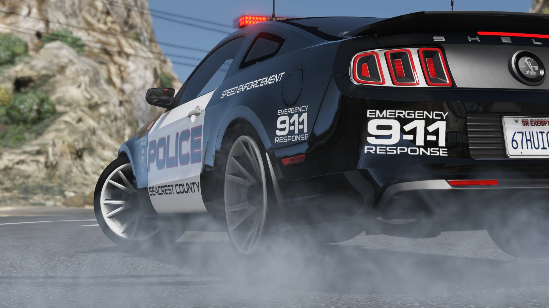 ford shelby gt500 hot pursuit police add on replace template gta5. Black Bedroom Furniture Sets. Home Design Ideas