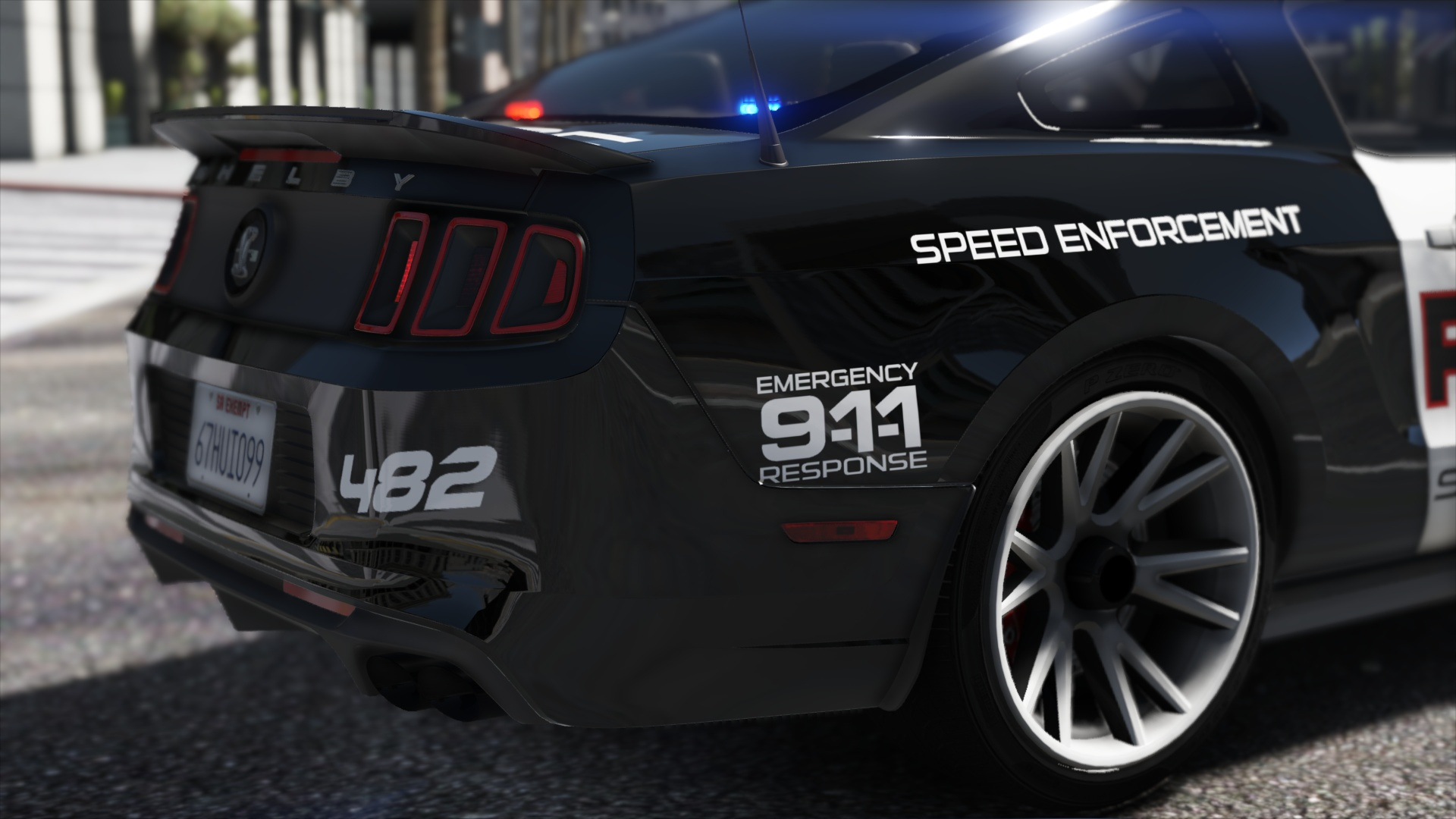 Ford Shelby GT500 Hot Pursuit Police [Add Replace