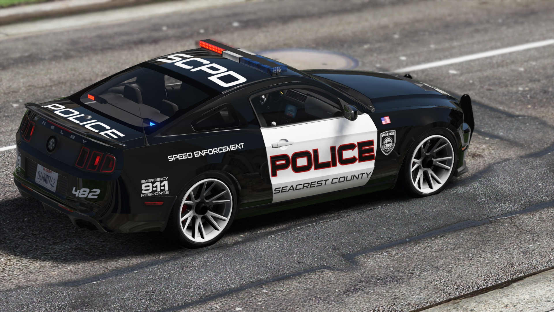 Ford Shelby Gt500 Hot Pursuit Police Add On Replace