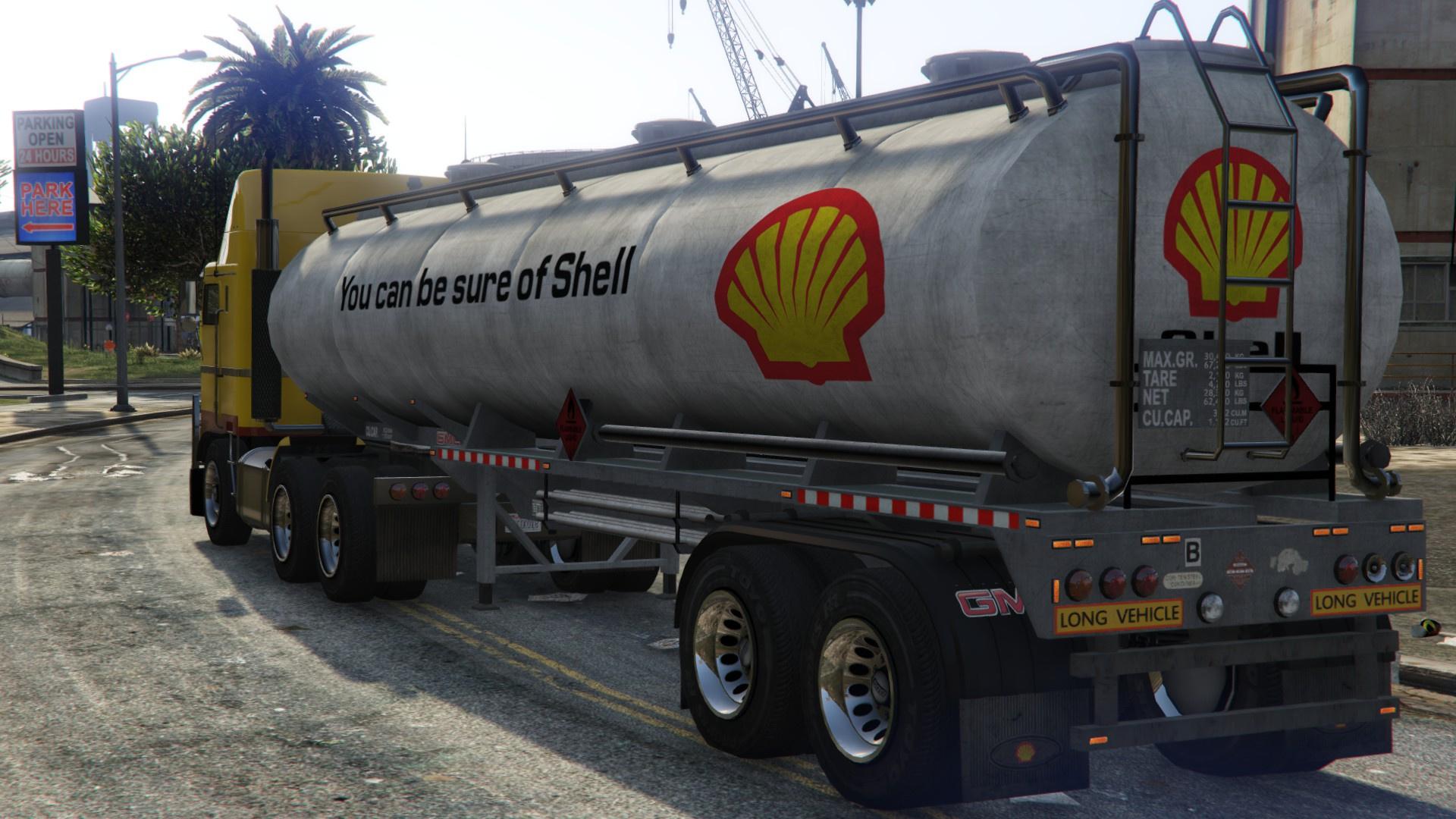 Shell, Texaco, Esso & Chevron Trailer Tanker - GTA5-Mods com