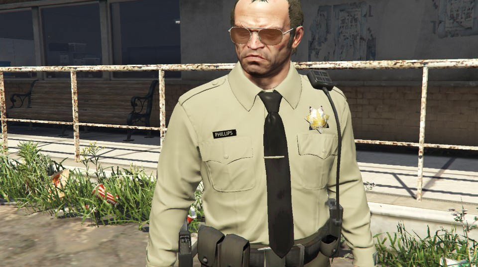 Sheriff Outfit for Trevor - GTA5-Mods.com