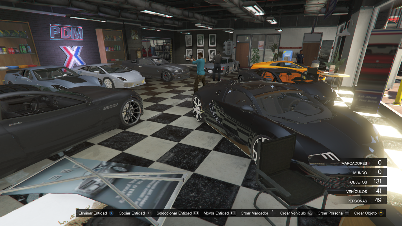 Simeon new car garage gta5 for Five car garage