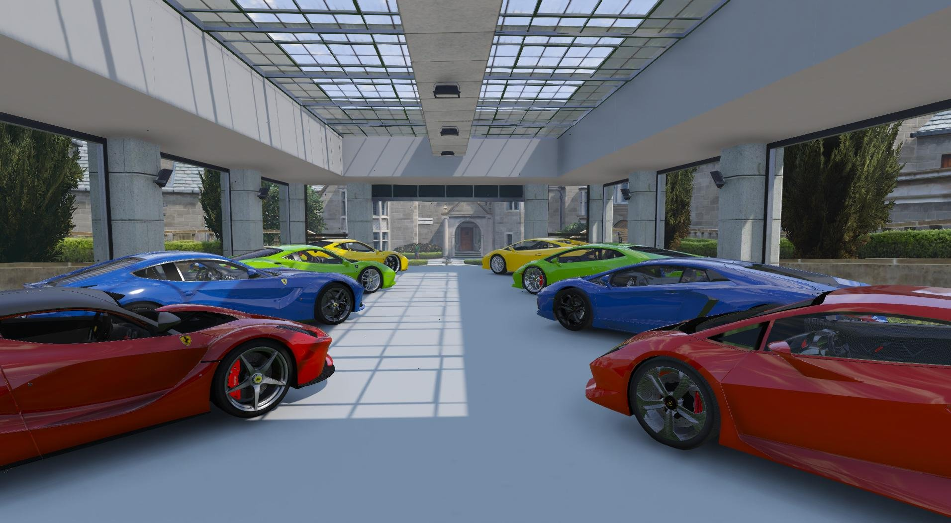 8 car garage showroom gta5 for 2 5 car garage