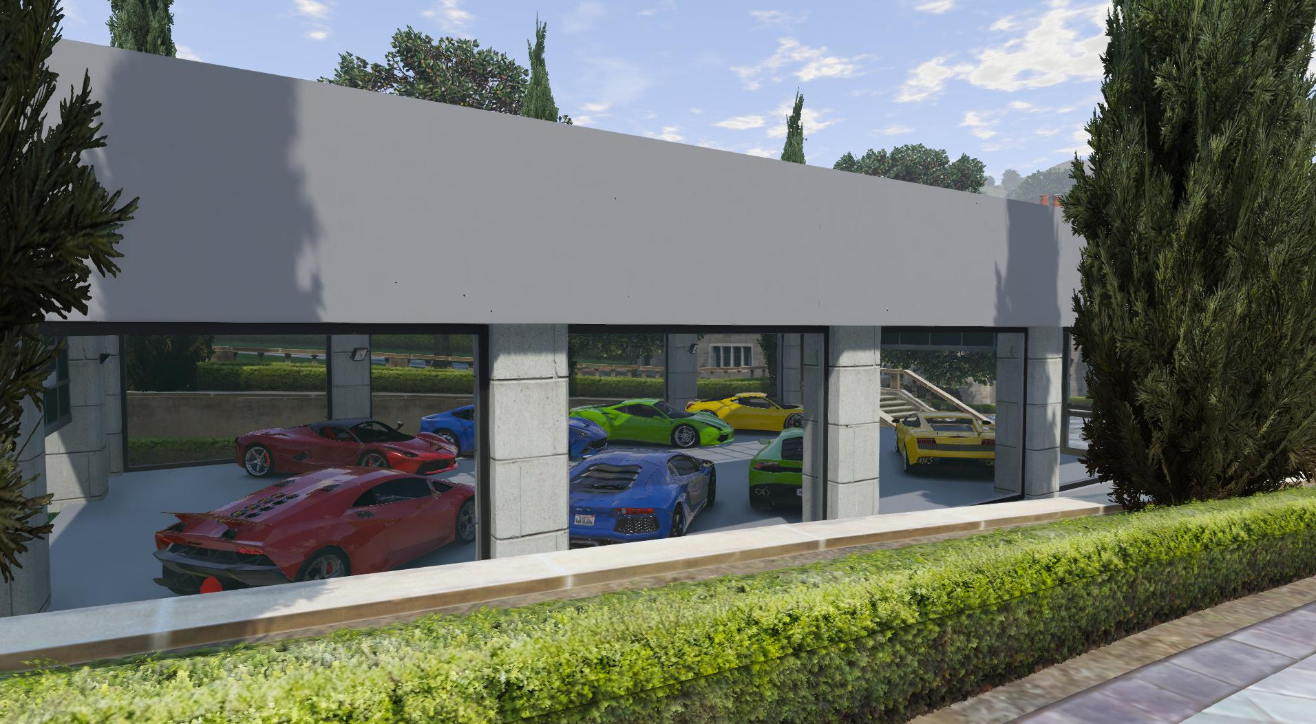 8 car garage showroom gta5 for 5 car garage