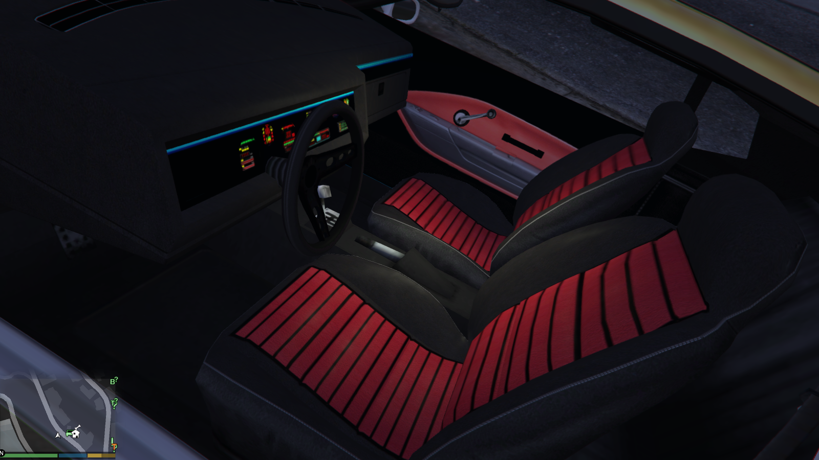 mustang kitt livery and interior for dominator gta5. Black Bedroom Furniture Sets. Home Design Ideas