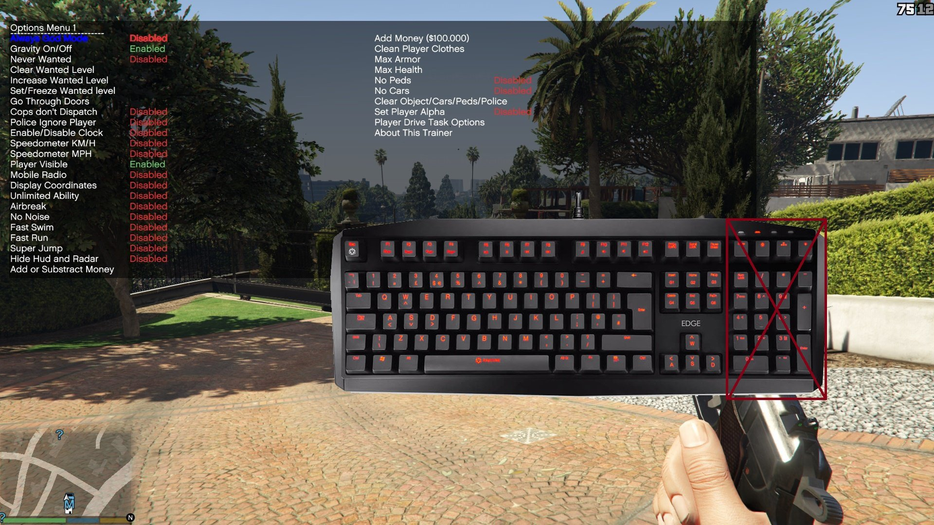 Simple Trainer for GTA V (For users who don't have number