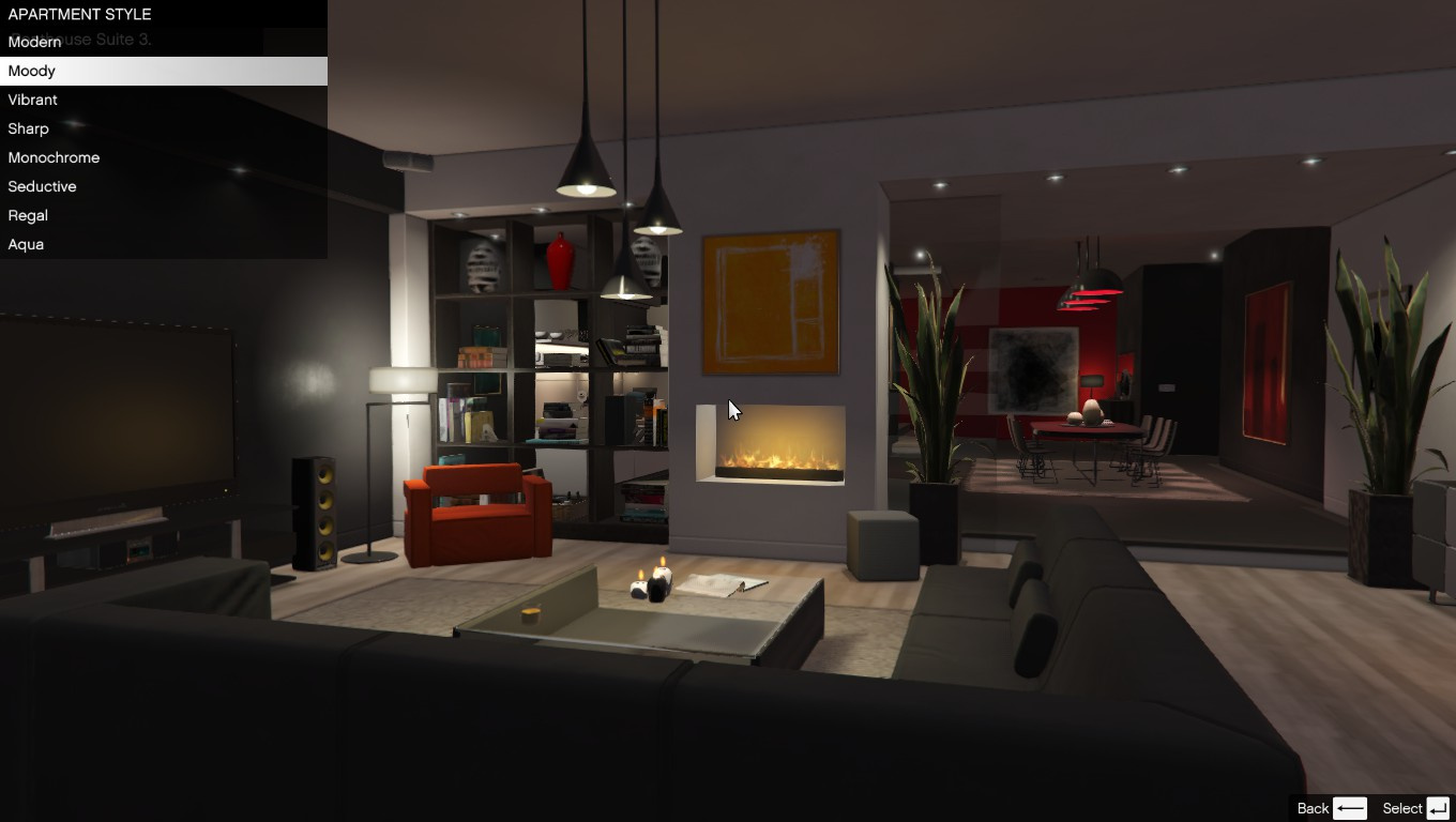 Single player apartment gta5 for Interieur online