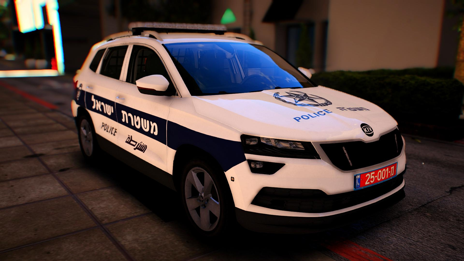 skoda karoq israeli police skin 2017 els gta5. Black Bedroom Furniture Sets. Home Design Ideas