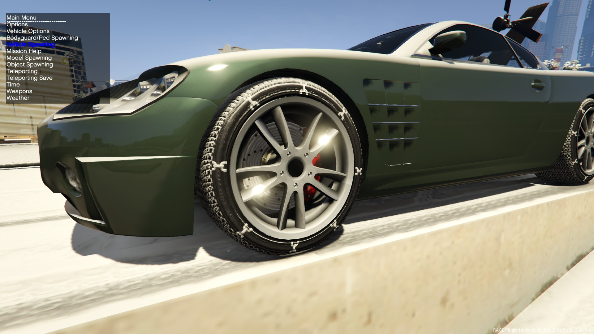 Snow chains texture for most cars gta5 for Mercedes benz snow chains