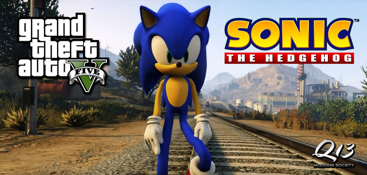 sonic the hedgehog add on gta5 mods com