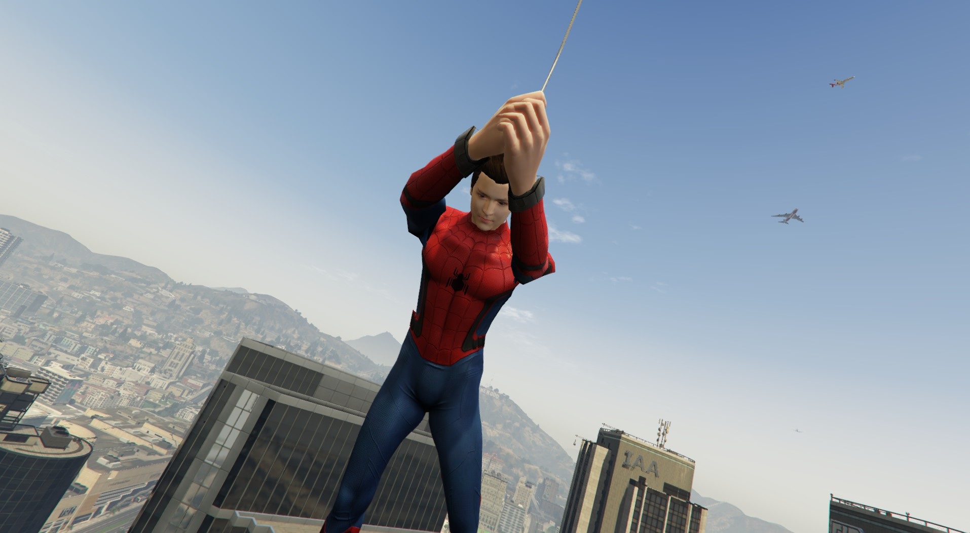 spider man v net gta5 mods com