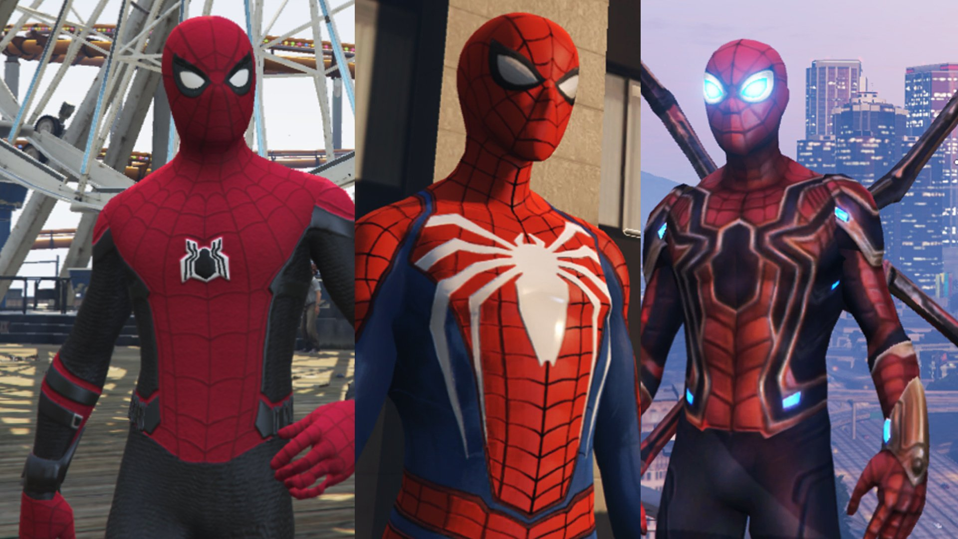 Spider-Man Pack (Far From Home, Infinity War, PS4 Advanced suit