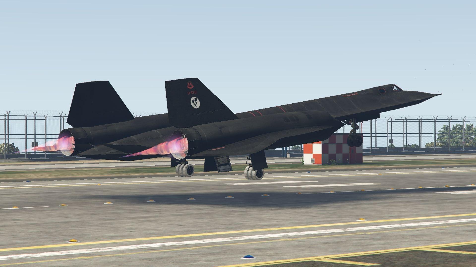 sr 71a blackbird fastest jet in the world gta5 mods com