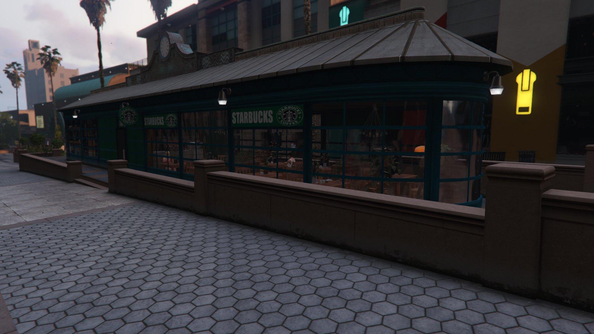 Starbucks Coffee And Cafe Interior YMAP