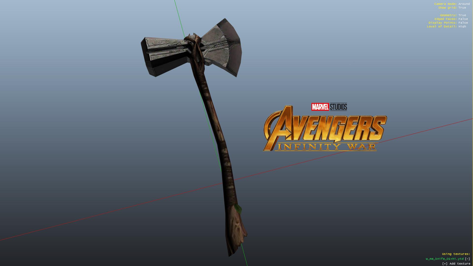 Storm Breaker Thor S Infinity War Weapon Gta5 Mods Com