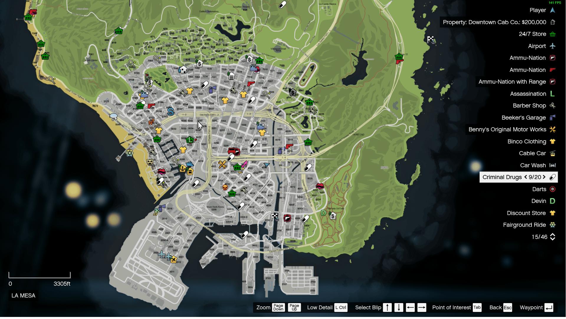 Realistic Street Location/Address Atlas Map - GTA5-Mods com