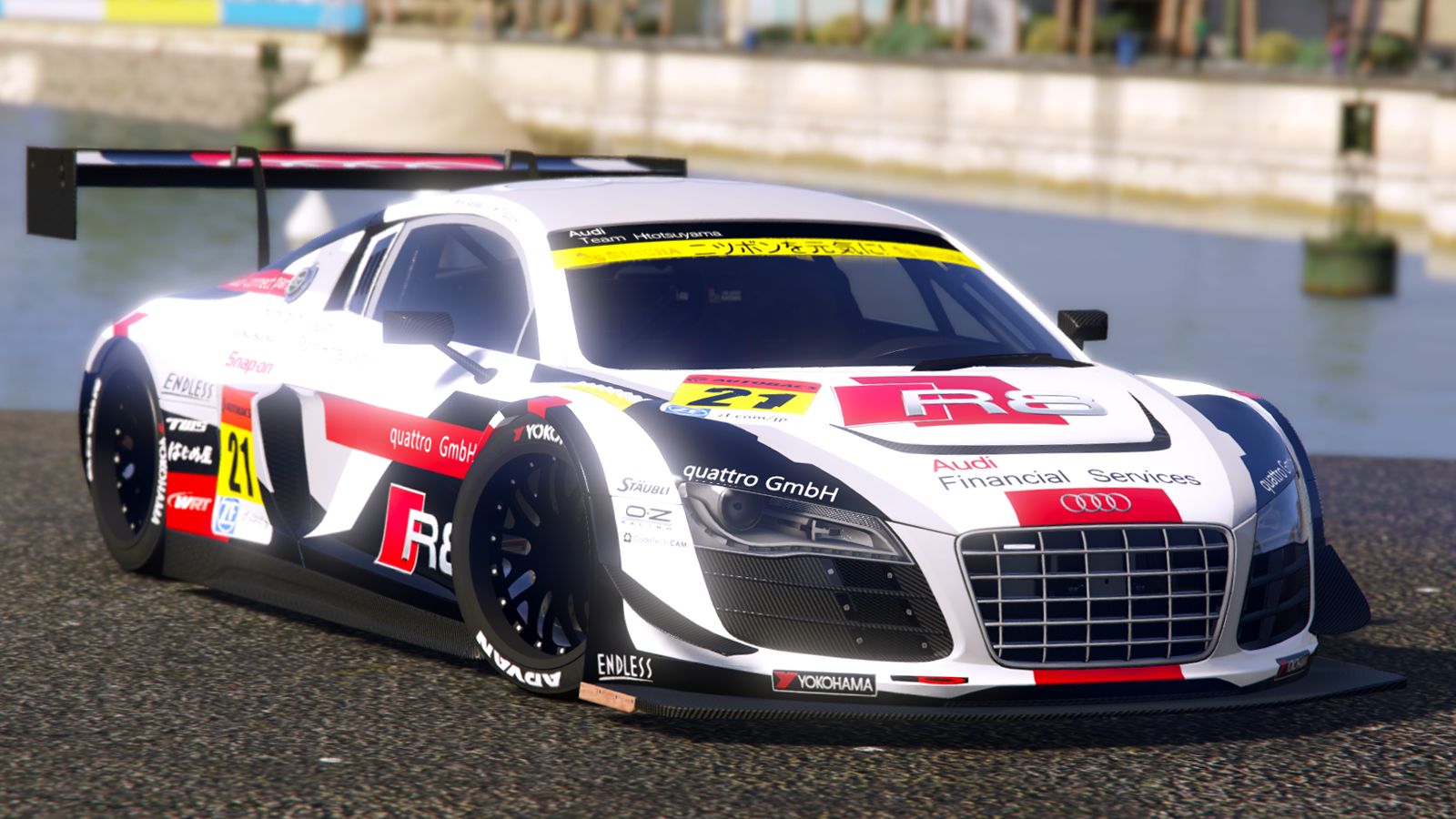 super gt 2015 audi r8 lms gta5. Black Bedroom Furniture Sets. Home Design Ideas