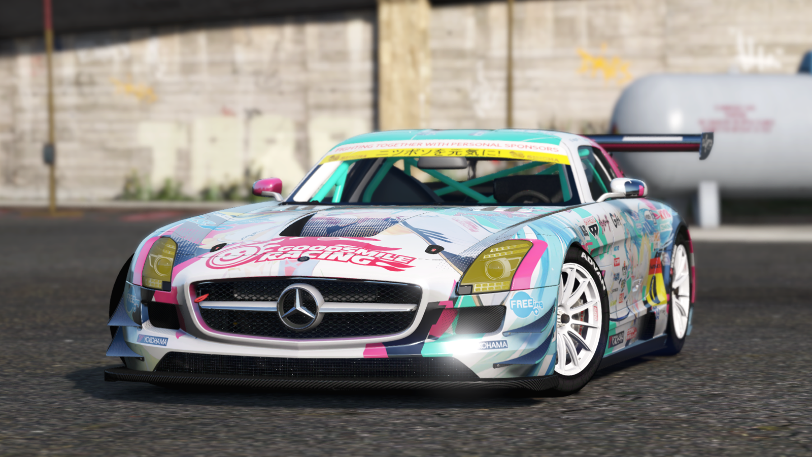 mercedes benz sls amg gt3 add on replace livery template gta5. Black Bedroom Furniture Sets. Home Design Ideas