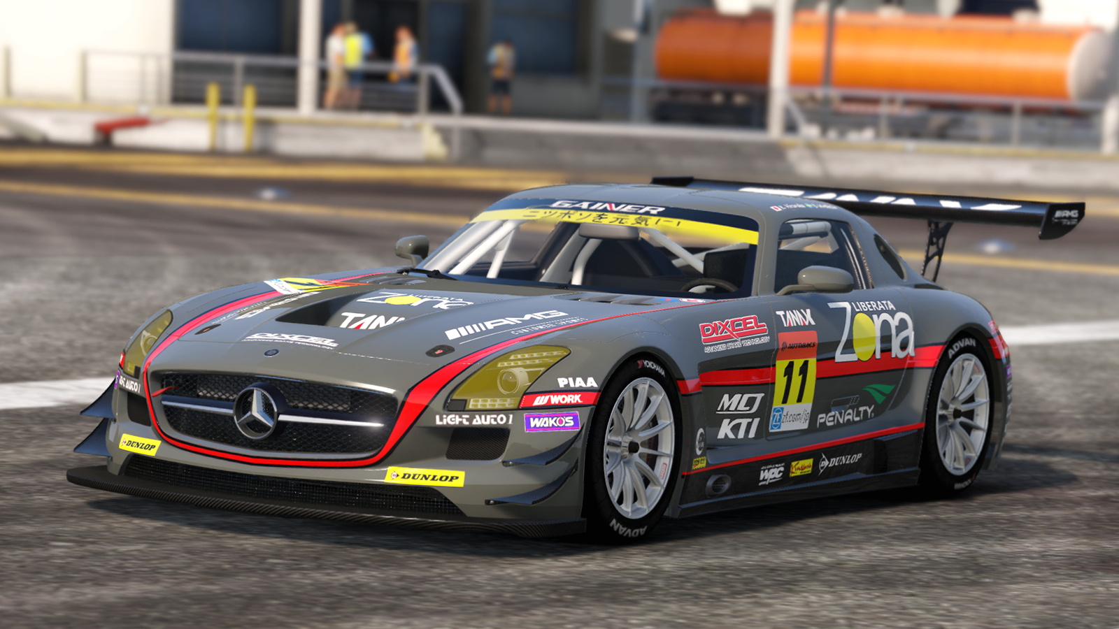 Mercedes benz sls amg gt3 add on replace livery for Mercedes benz gt3