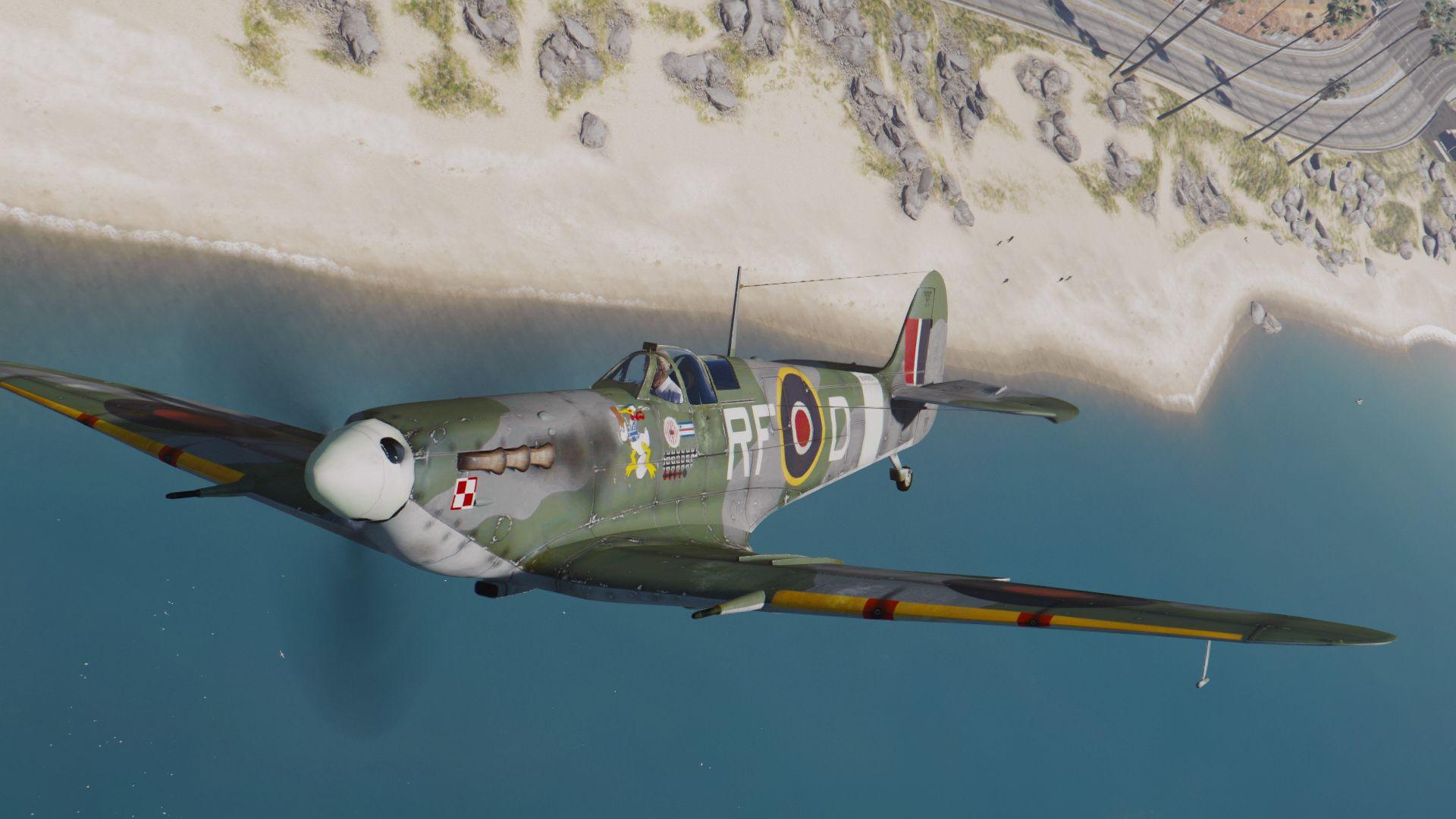 An Ii B B Supermarine Spitfire Mkiib Add On Gta5 Modscom
