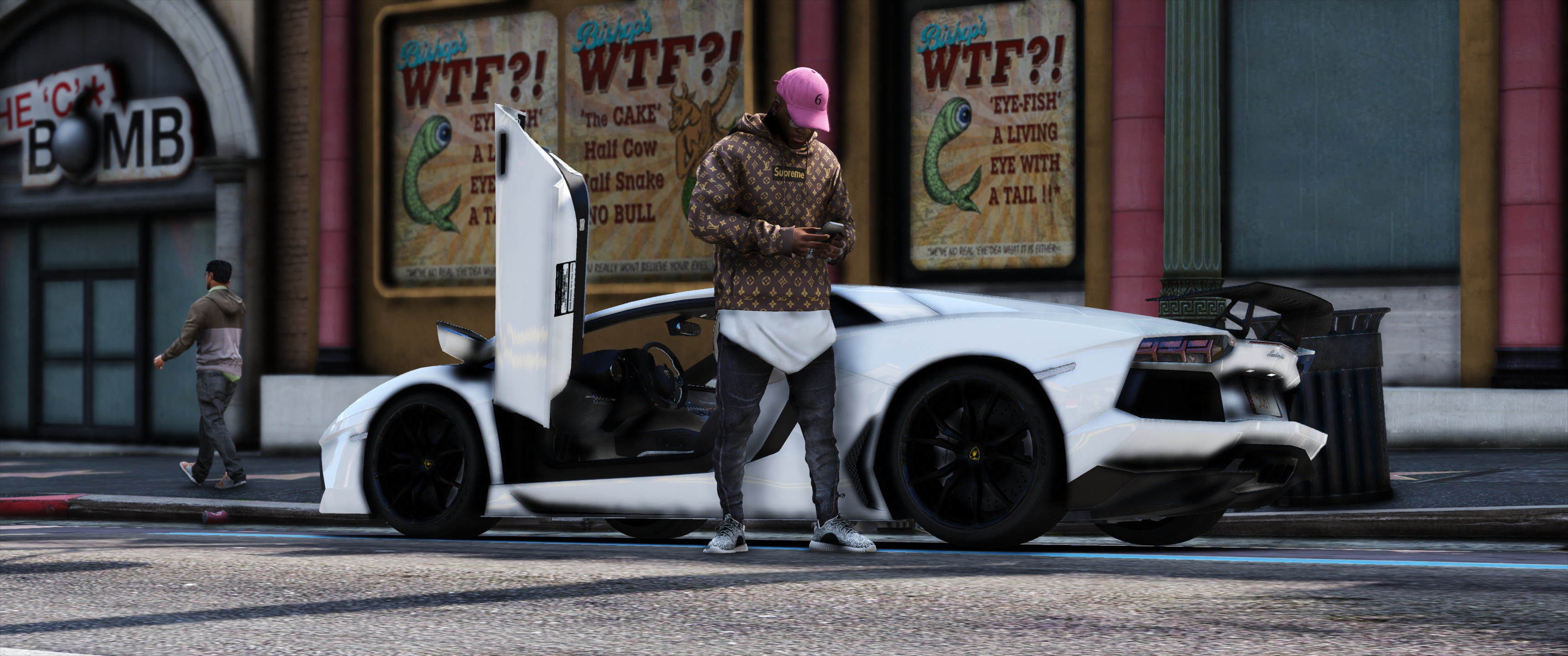 Supreme Louis vuitton hoodie Brown - GTA5-Mods com