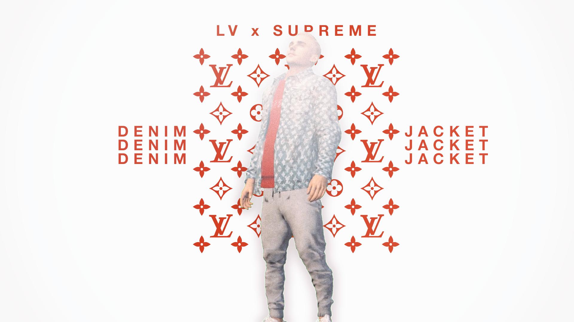 supreme wallpaper: Black Lv X Supreme Wallpaper