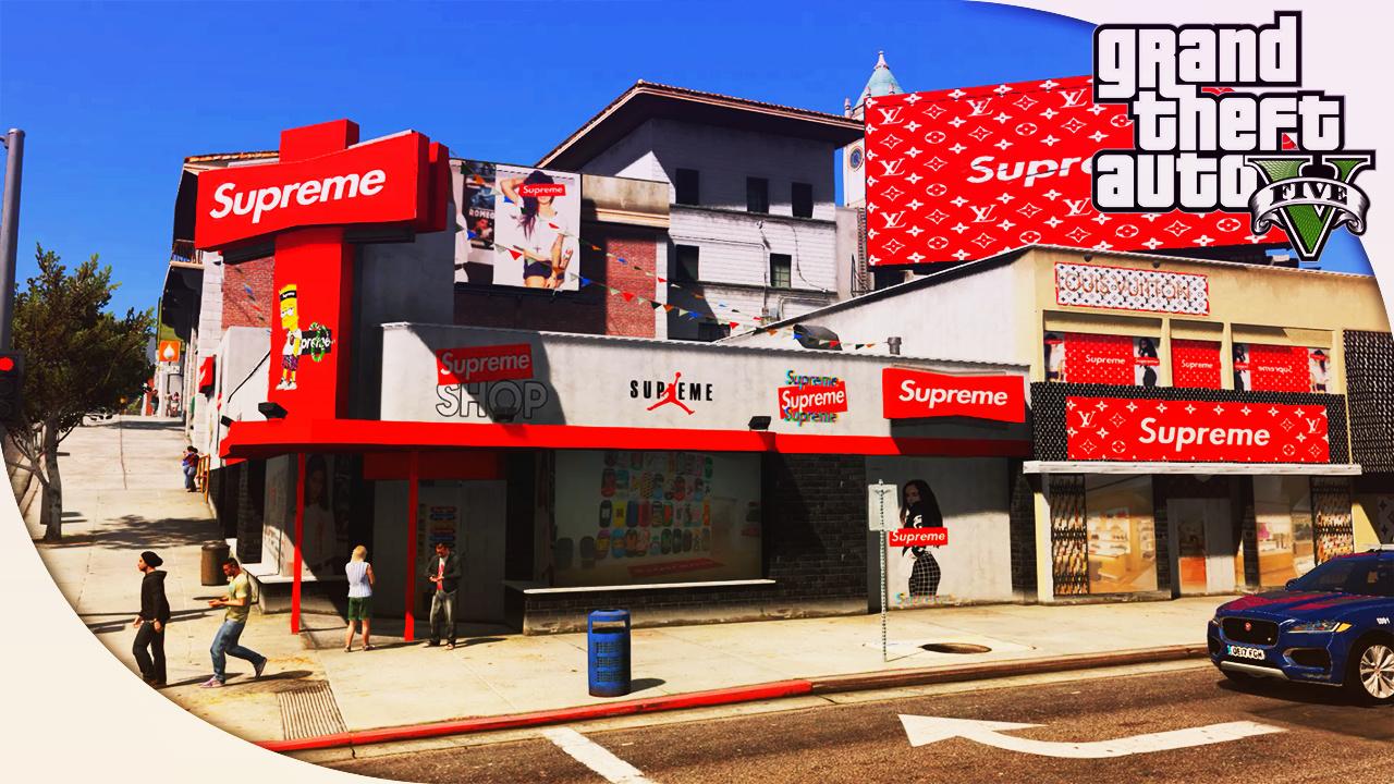 Supreme X Louis Vuitton Shop Bape Gta5 Mods Com