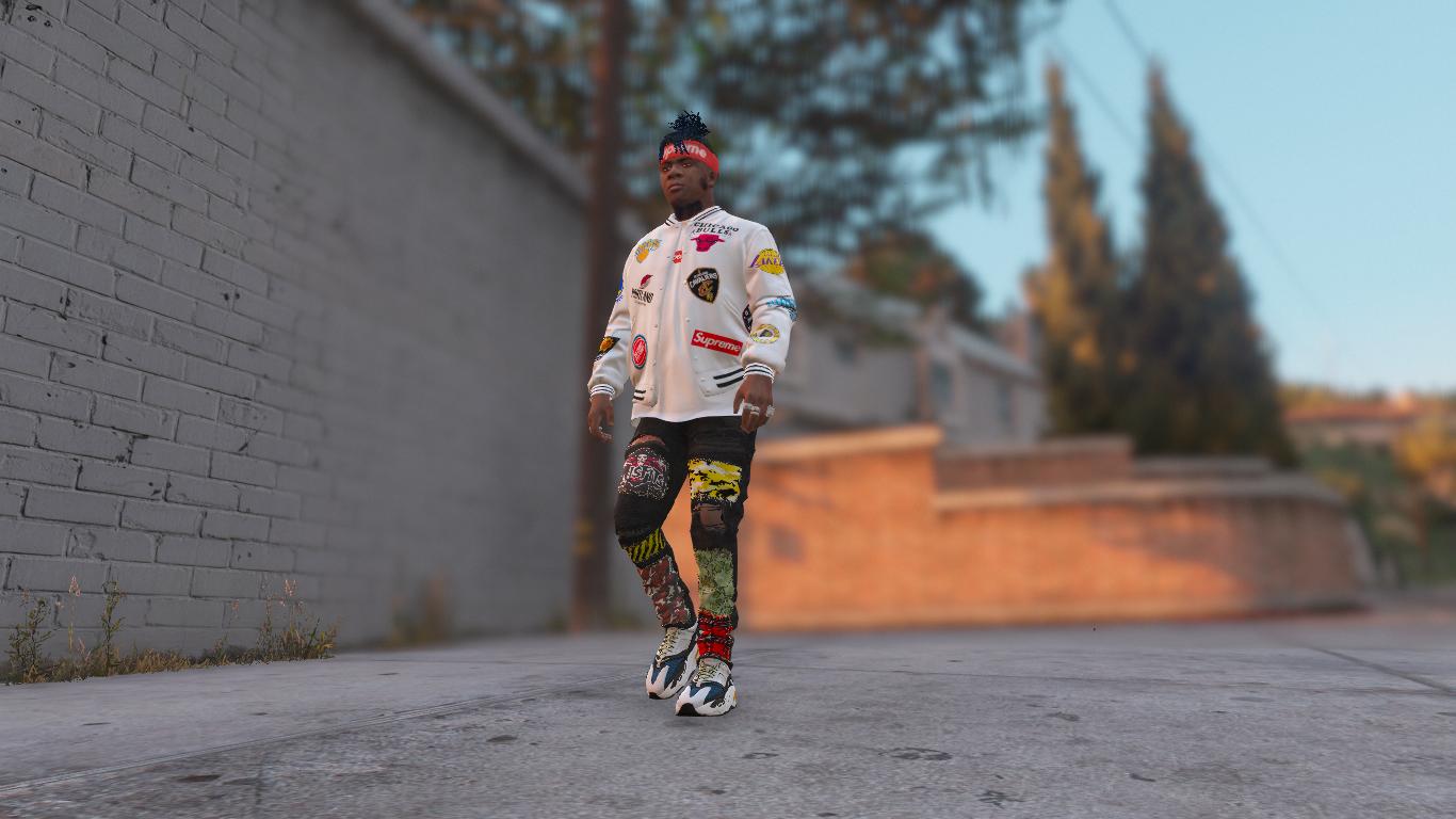 Supreme X Nba Warm Up Jacket Pack Gta5 Mods Com