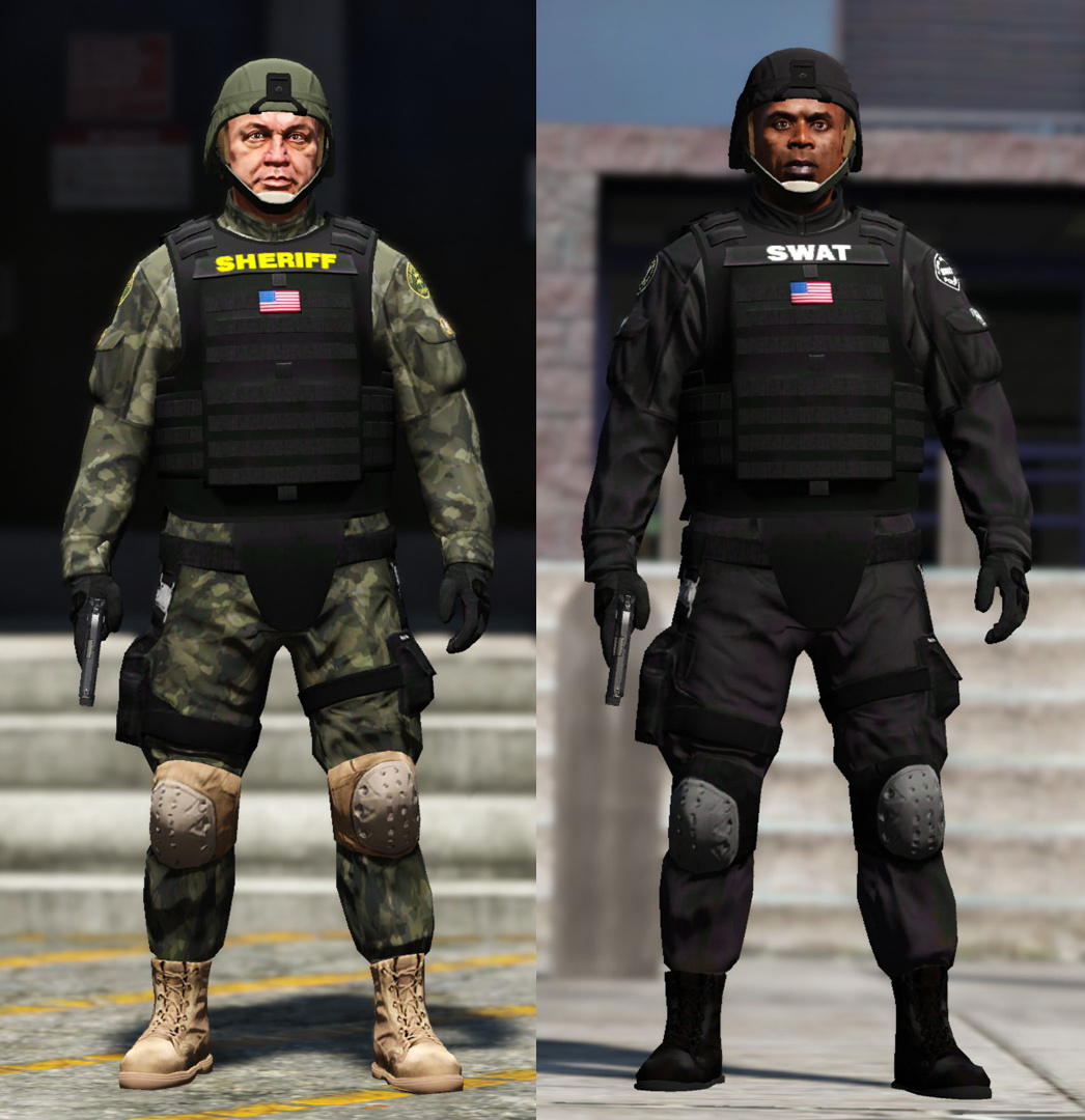 Swat Team Sheriff Variation Gta5 Mods Com