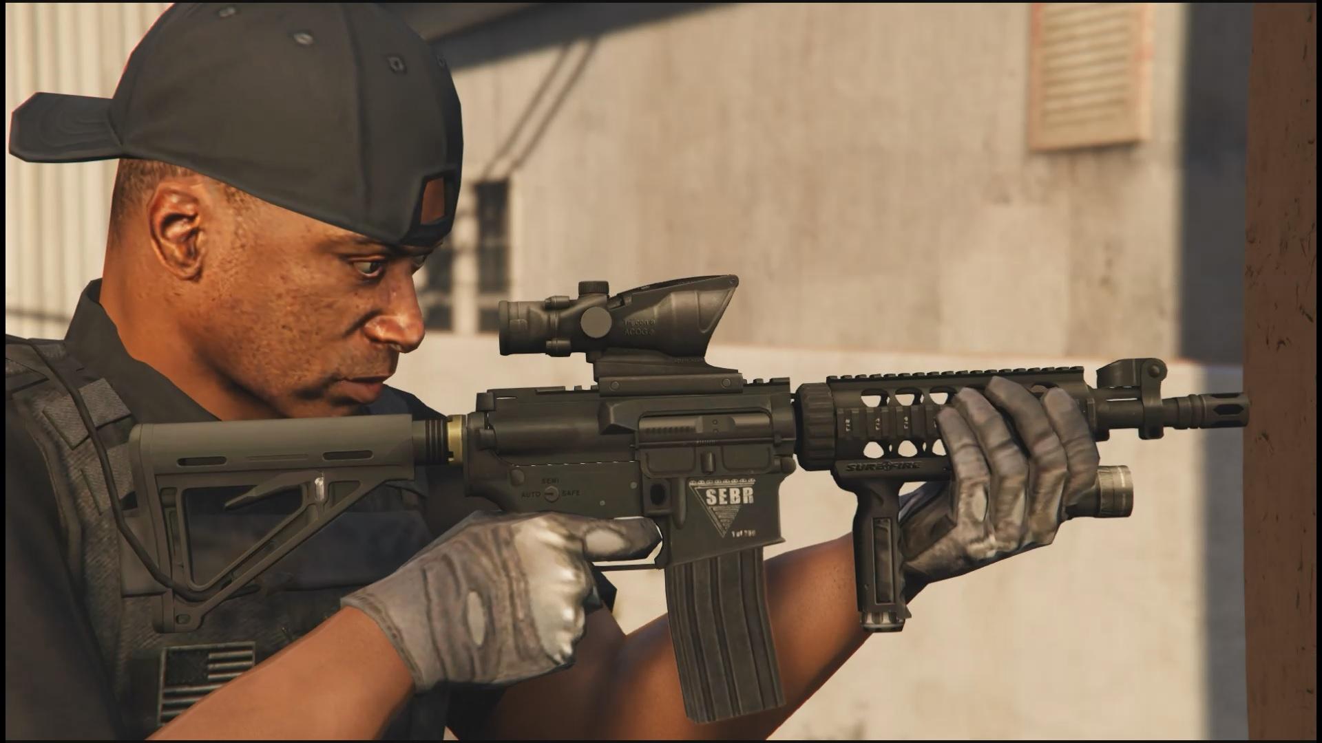 M4a1 tactical tactical m4a1 cqb animated gta5 mods com
