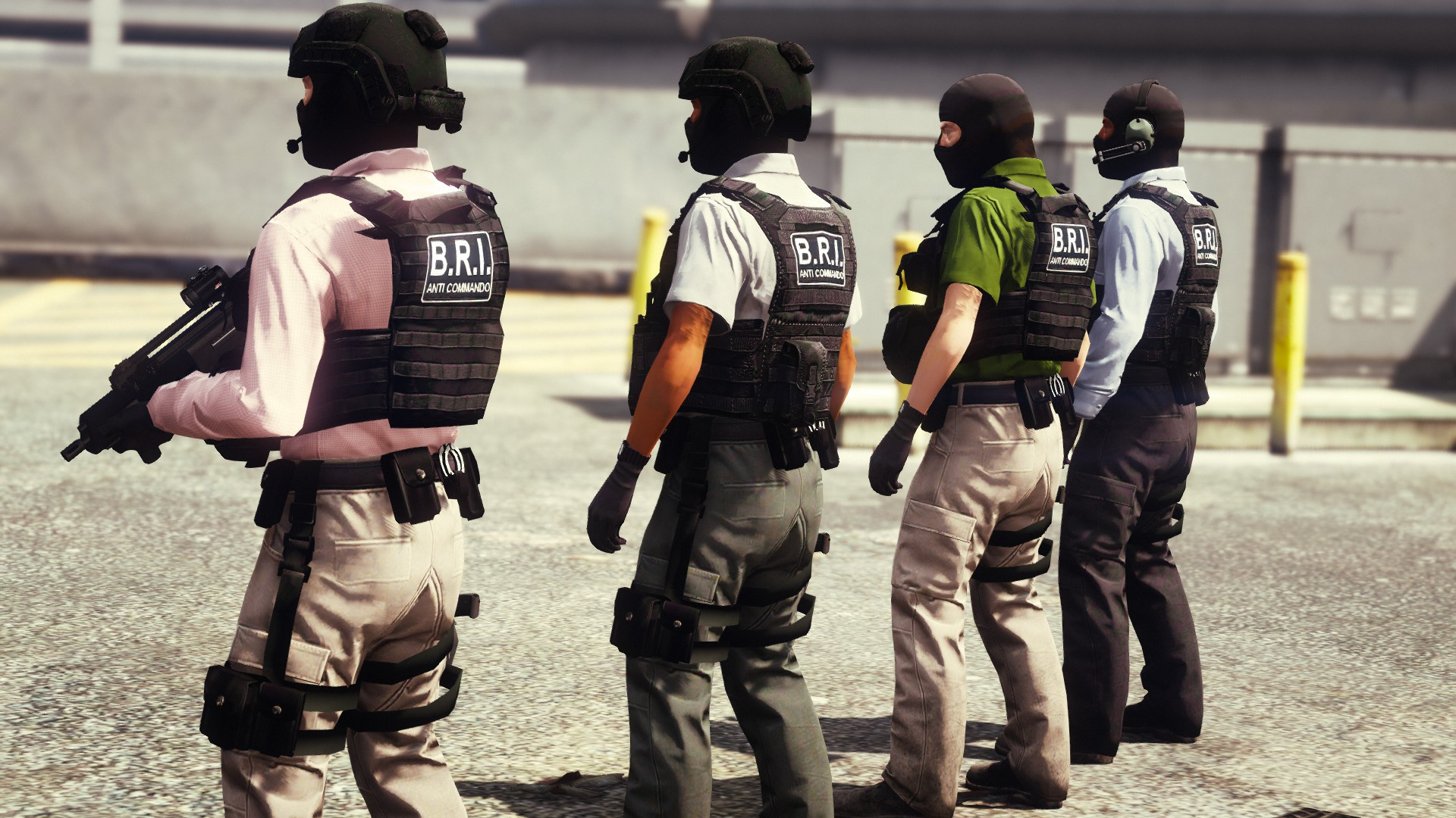 tenue bri french police anti terror unit gta5. Black Bedroom Furniture Sets. Home Design Ideas