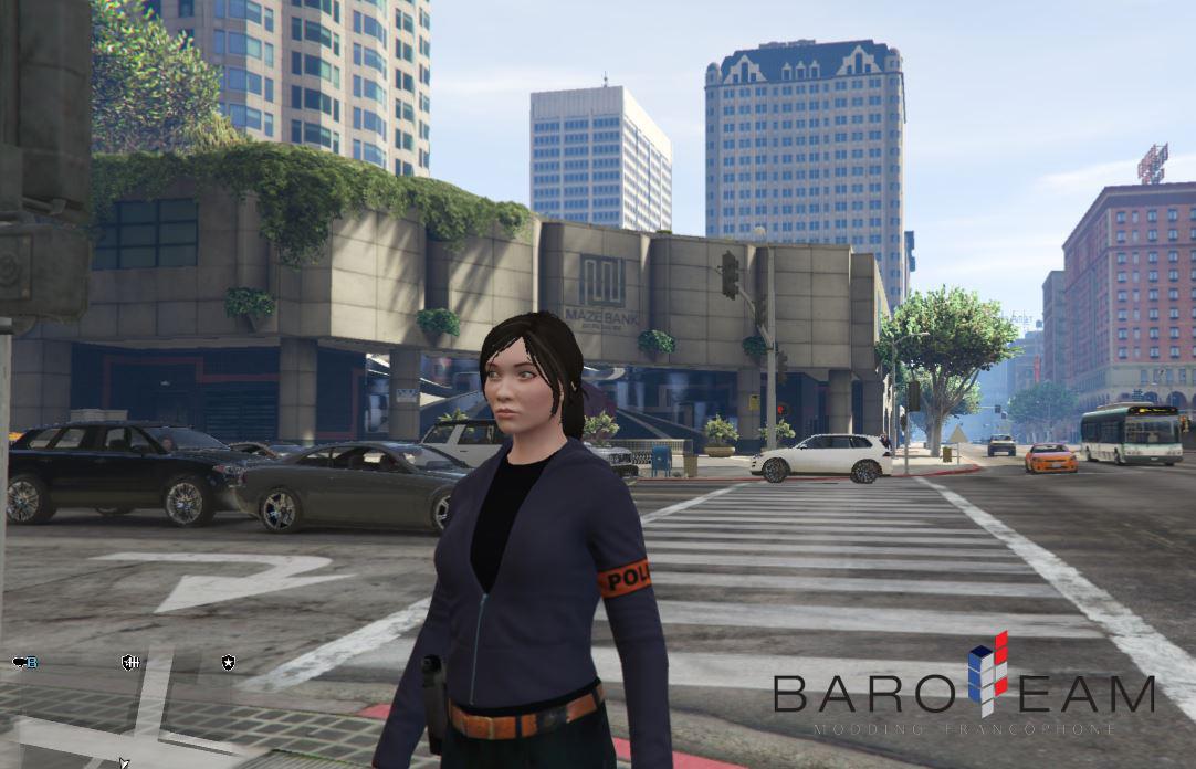 Une femme au volant dans GTA V