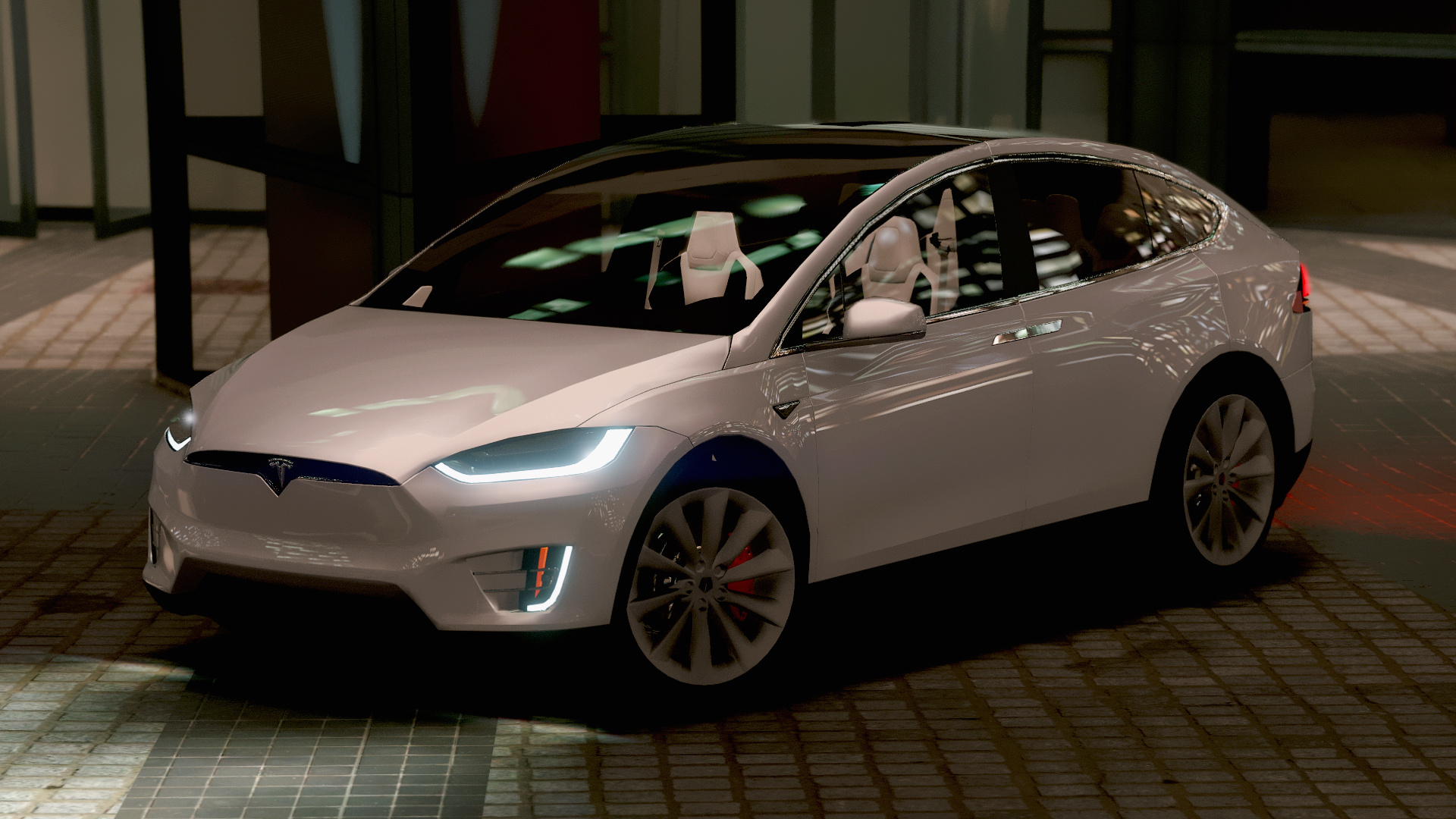 tesla model x p90d 2016 add on wipers spoiler hq gta5. Black Bedroom Furniture Sets. Home Design Ideas