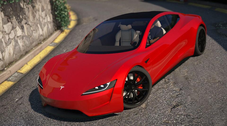 tesla roadster  add  replace auto spoiler gta modscom