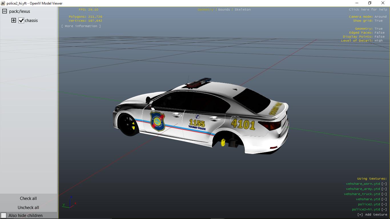 Thai Tourist Police Lexus GS 350 - GTA5-Mods com