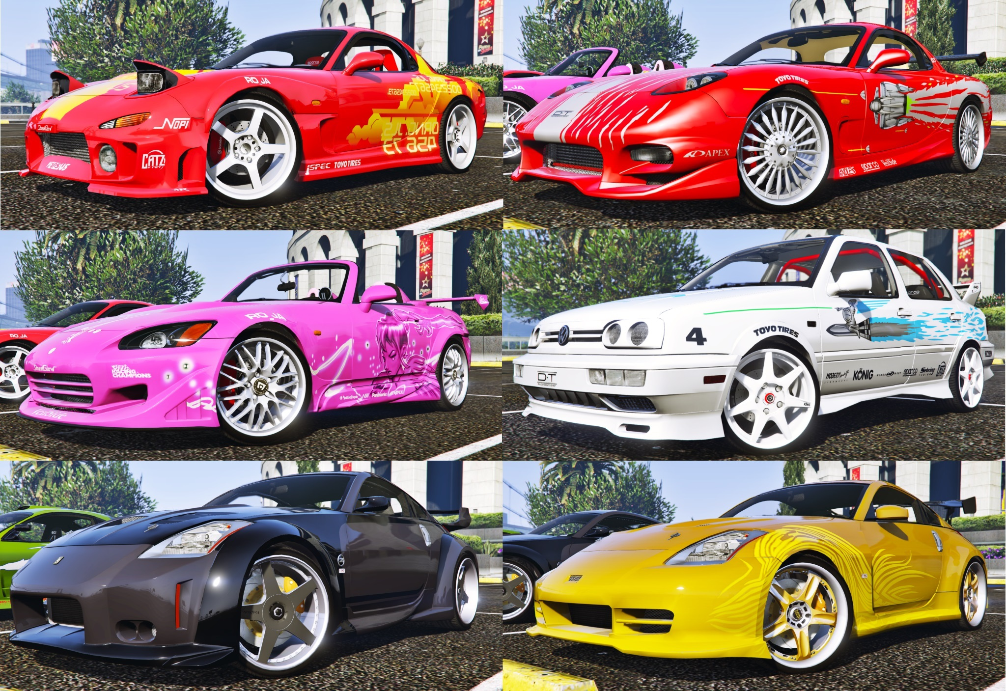 The Fast And The Furious Cars Pack HQAddOnAnimated GTA - 2 fast 2 furious cars