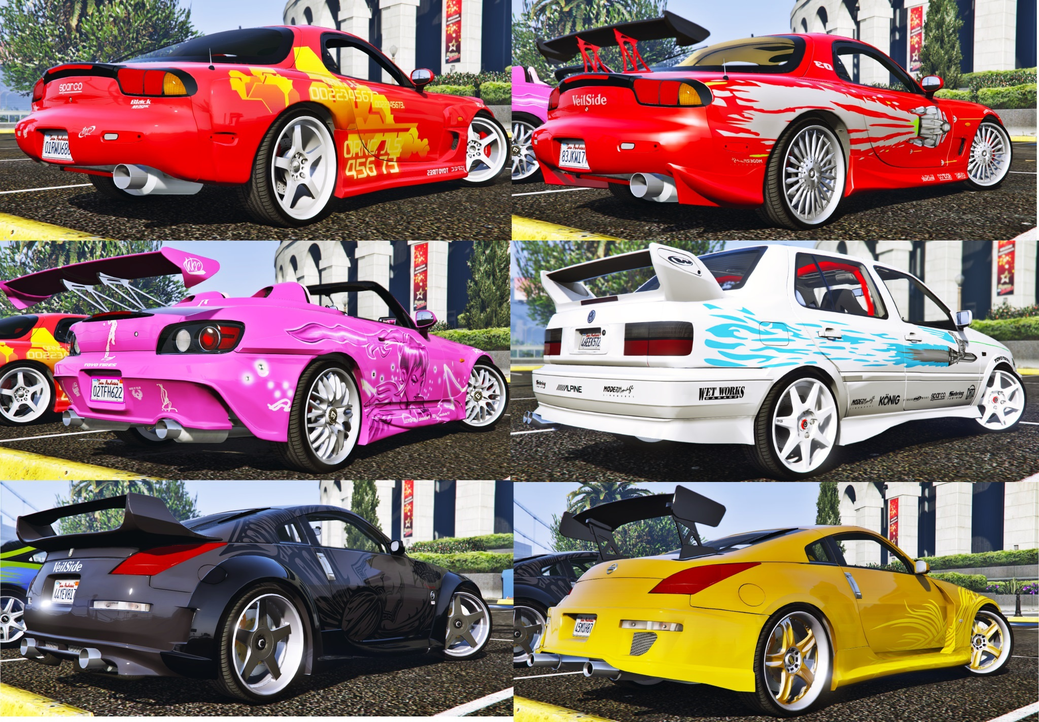 The Fast and the Furious Cars Pack 2 [HQ-Add-On-Animated ...Gta 5 Fast And Furious Cars Skyline
