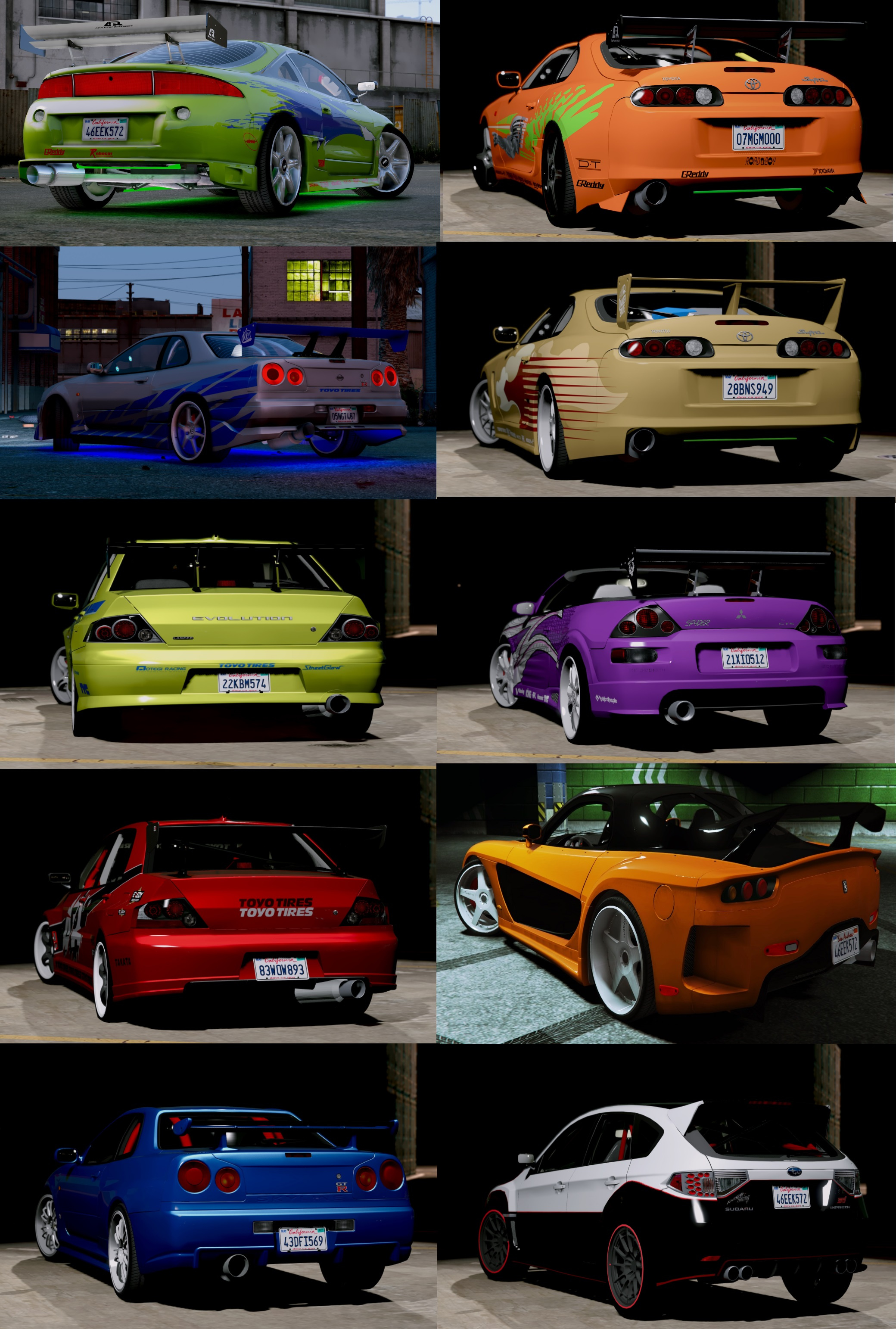 2003 Mitsubishi Eclipse Spyder Gts >> The Fast and the Furious Cars Pack [HQ-Add-On-Animated