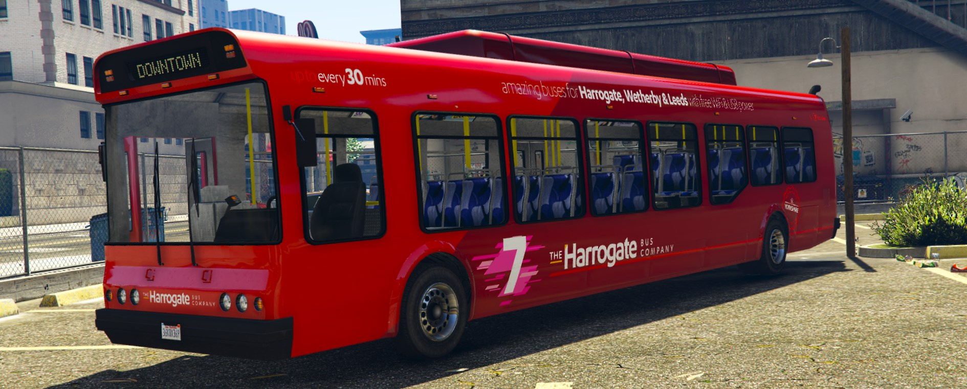 Mercedes North Haven >> The Harrogate Bus Company - Livery Pack for the Vanilla Bus - GTA5-Mods.com