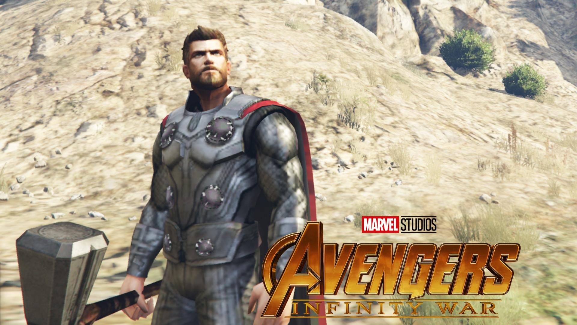 Thor Avengers Infinity War Turn On Off Cape Gta5 Mods Com