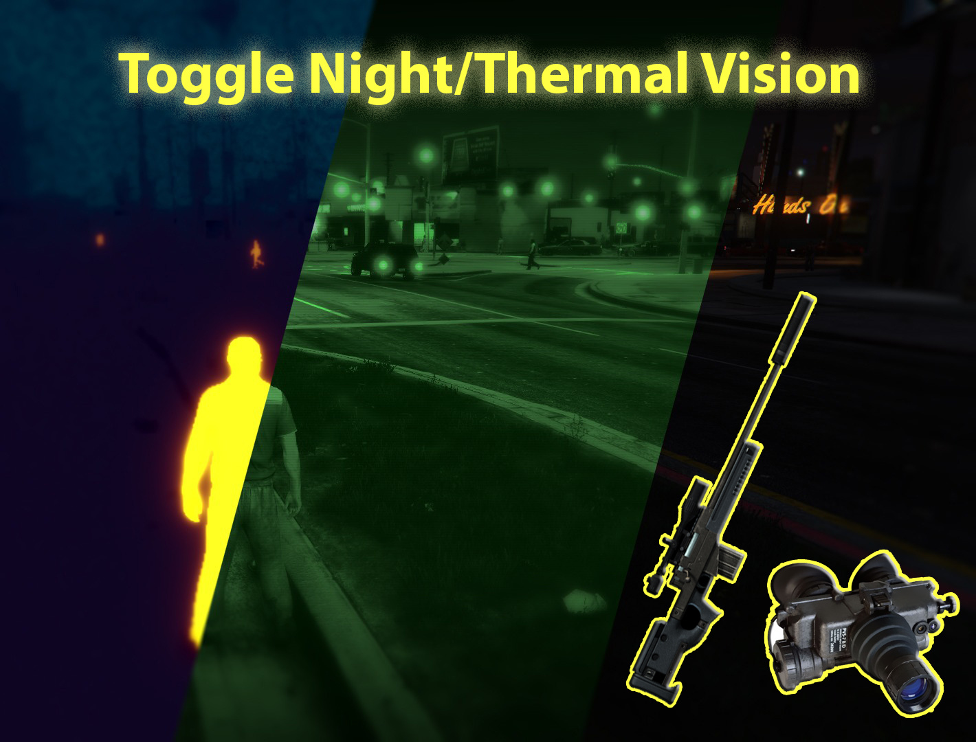 Toggle Night/Thermal Vision (+ scope-only mode) [LUA] - GTA5