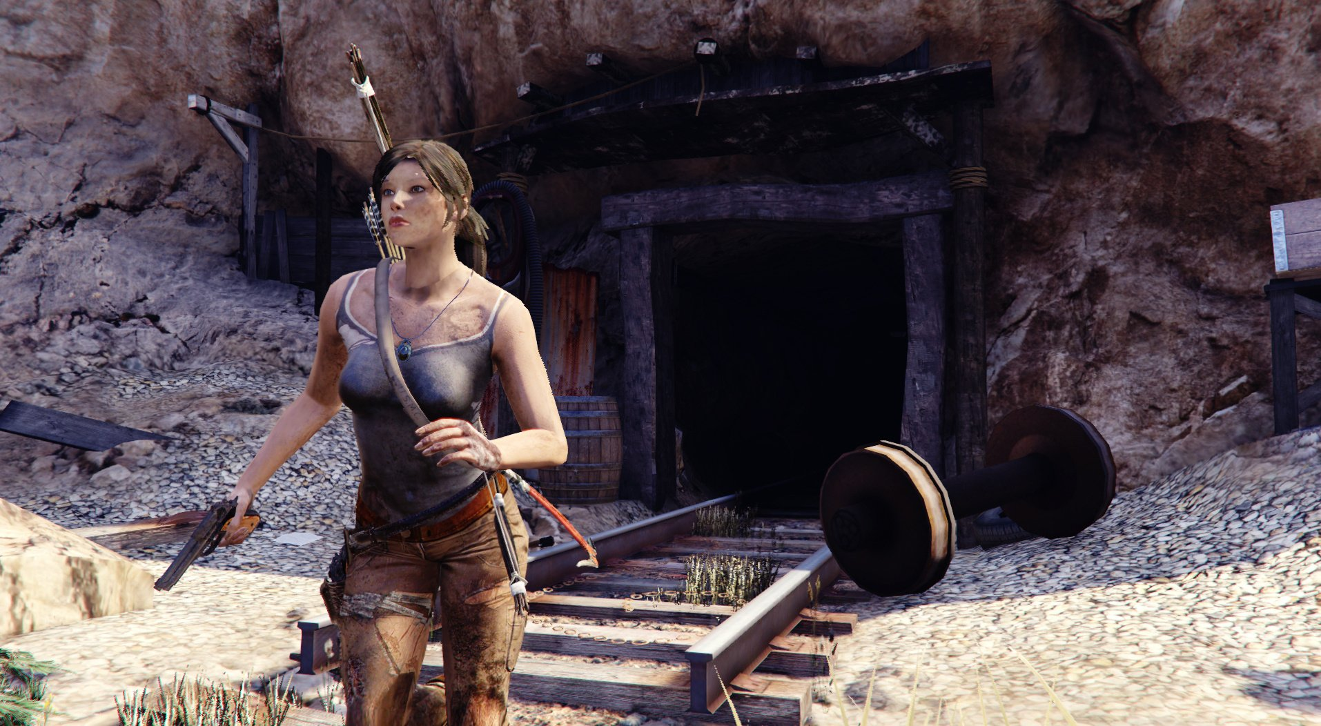 Tomb Raider Lara Croft Ped Real Head Accessories Gta5 Mods Com