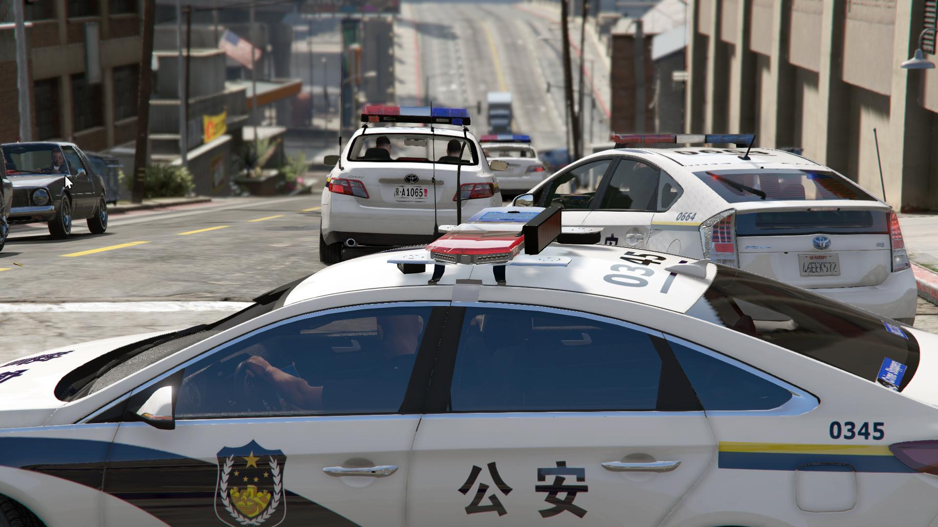 Toyota Camry Chinese Police 丰田凯美瑞警车标准涂