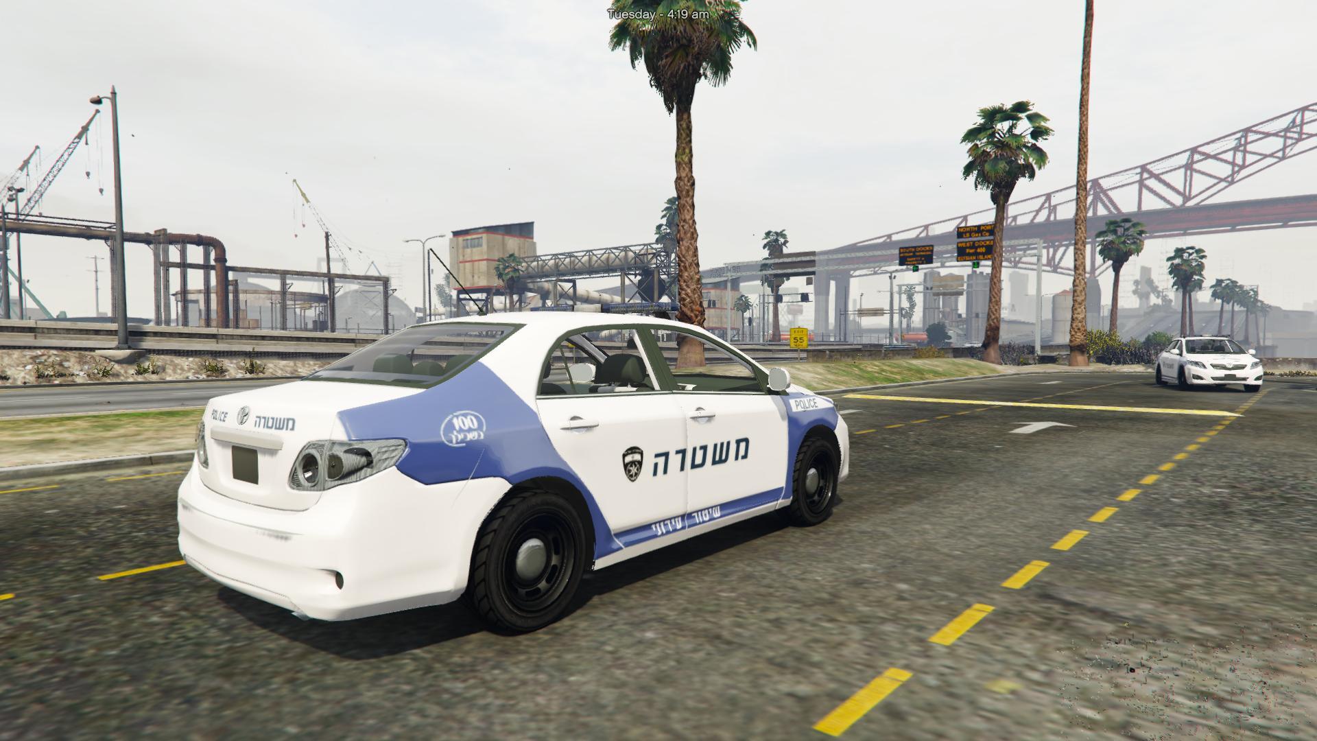 מודרניסטית Toyota Corolla 2009 | Israeli police Very Old | משטרת ישראל - GTA5 EF-42
