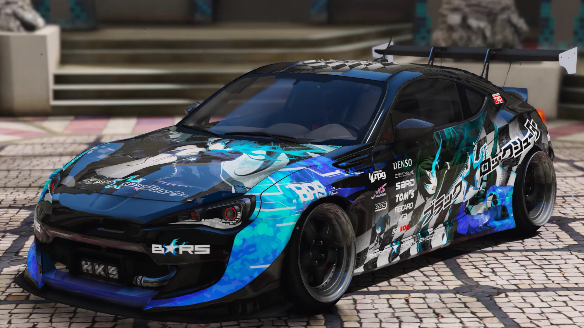 "痛車 Rocket Bunny BRZ/GT86 ""BlackRockShooter"" - GTA5-Mods.com"