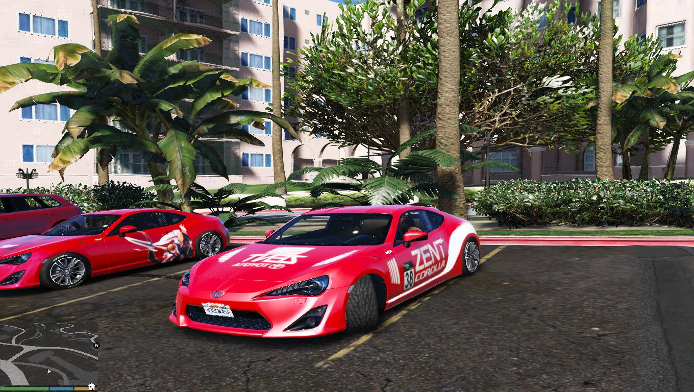 Toyota gt86 zent livery gta5 for Toyota 86 exterior mods