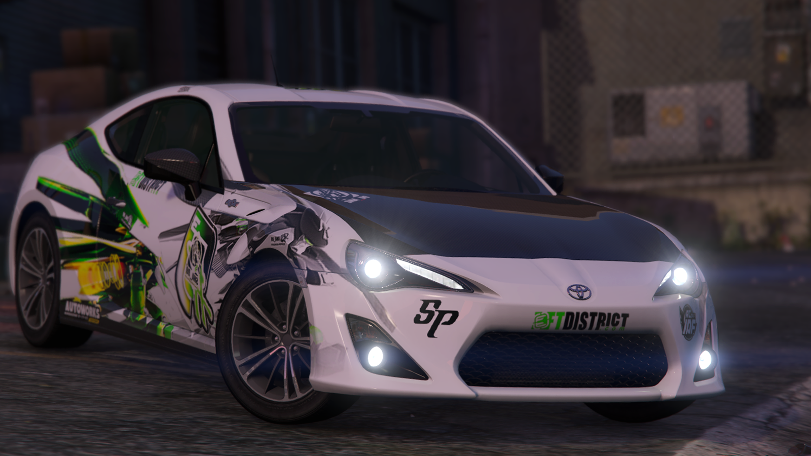 Toyota gt86 zn6 replace livery template gta5 for Toyota 86 exterior mods