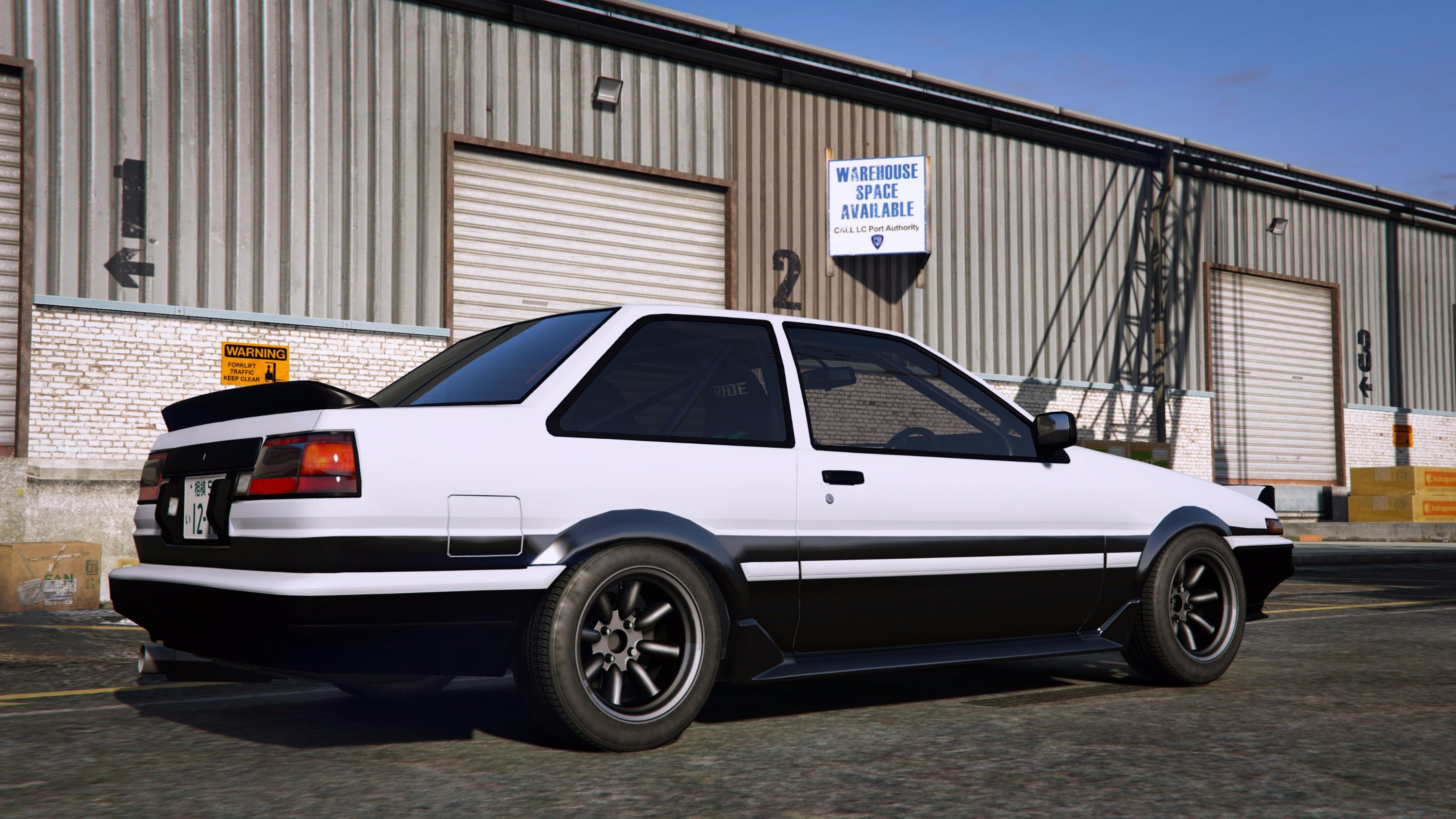 toyota trueno ae86 add on rhd initial d gta5. Black Bedroom Furniture Sets. Home Design Ideas
