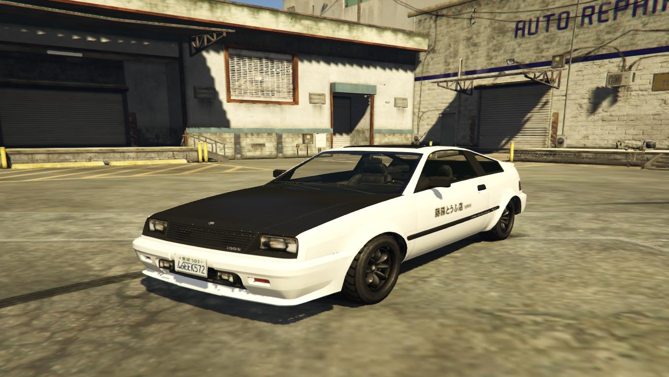 Toyota Trueno Badge + Initial D For Blista Compact