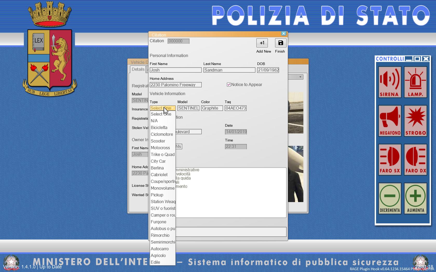 TRADUZIONE ITALIANO Traffic Policer LSPDFR+ Computer+ e